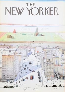 View of the World from 9th Avenue - The New Yorker