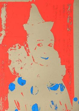 Neon Clown (Red with Blue)