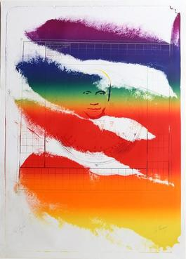 Sri Chinmoy, 1973 Lithograph by Paul Jenkins