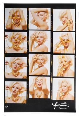 Marilyn Monroe with jewels [Contact Sheet] from The Last Sitting for Vogue , 1962