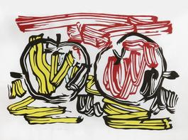 Red Apple and Yellow Apple from Seven Apple Woodcuts Series (C. 197)