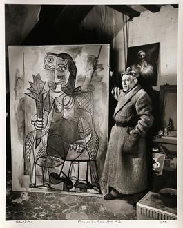 Picasso Standing with Painting