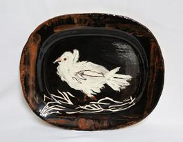 Colombe sur lit de paille (Dove on a Straw Bed)