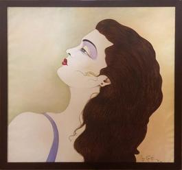 Portrait with Purple Eyeshadow