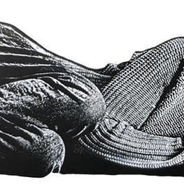 Femme couchee