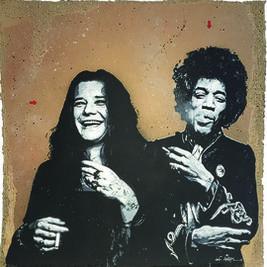 Janis Joplin and Jimi Hendrix