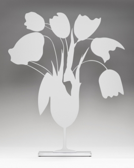 White tulips and vase, April 4