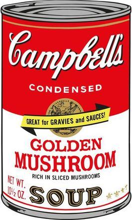 Soup Can (Golden Mushroom)