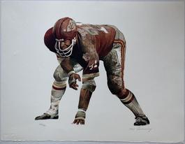 """On the Line (Junious """"Buck"""" Buchanan, Kansas City Chiefs)"""