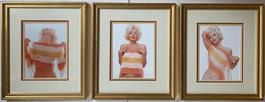 Marilyn Monroe with Striped Scarf (triptych)