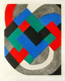 Composition in Red, Green, Blue and Black