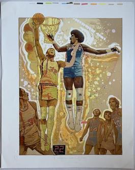 "Julius ""Dr. J"" Erving vs. Bill Walton (NBA World Championship - Portland Trailblazers vs. Philadelphia 76ers)"