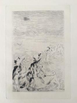 Sur la plage, a Berneval (D.; S. 5)