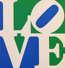 LOVE (White Green Blue)