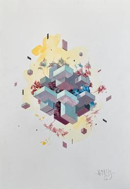 Floating cubes 5