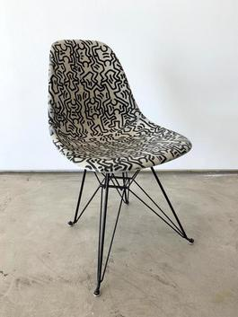 Keith Haring Case Study® Side Shell Eiffel Chair - Figures
