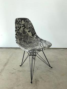Shepard Fairey Case Study® Side Shell Eiffel Chair
