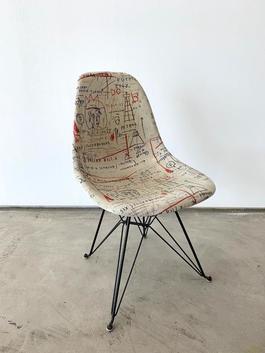 Jean-Michel Basquiat Case Study® Side Shell Eiffel Chair - Jackson