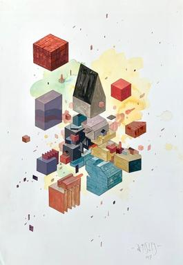 Floating cubes 1