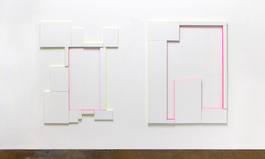 Untitled (Compositions with 12 canvas and 2 colours) / Untitled (Composition with 7 Canvas and 2 Colours)