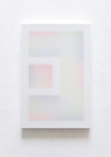 Untitled (Composition with Frame, 3 Wood Slats and 3 Colours, 1/35)