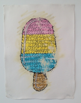 Ice Cream (pink yellow blue)