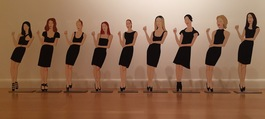 Black Dress Cutouts (set of 9)