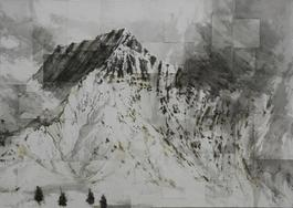Watercolor Benasque 1, Snow series