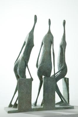 3 Seated Figures II