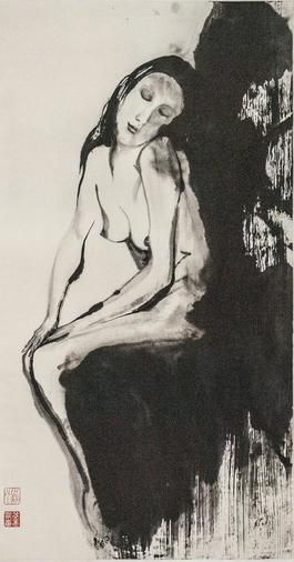 Seated Woman, Closing her Eyes