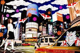 samuraicat in kokusai taxi