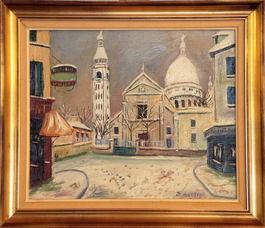 Rue à Monmartre et Sacré Coeur
