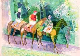 Trois jockeys