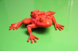 Cloned RED Aluminum FROG with backpack
