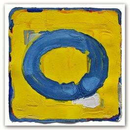 Blauw in geel