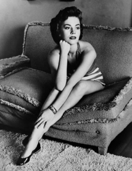 Natalie Wood classic portrait on sofa