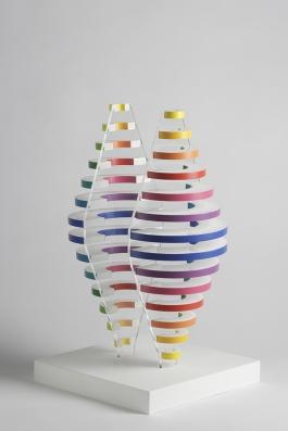 2 Demi cones avec anneaux de couleurs