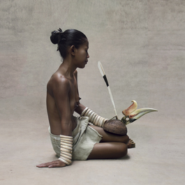 Young Woman with Hornbill Headdress, New Guinea