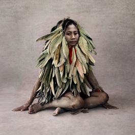 Young Woman in Leaf Costume, New Guinea