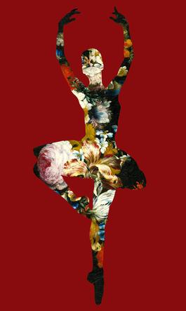 En Dedans Pirouette Avec Des Fleurs (Red)