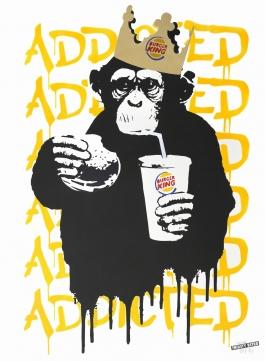 Fast Food Monkey – Burger King Orange Yellow