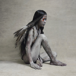 Young Woman with Falcon Feather Bag, New Guinea