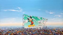 Mickey Billboard Plastic Landfill