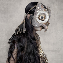 Young Woman with Owl Mask, Sunda Islands