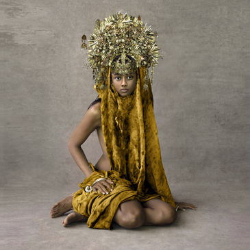 Young Woman with Marriage Ceremony Headpiece, Sunda Islands