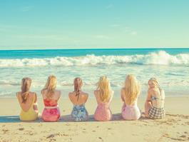 Girls At the Beach
