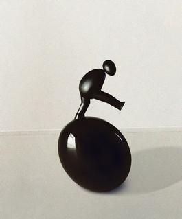 Eggy sculpture, the tumbler II