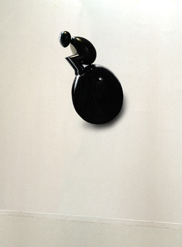 Eggy sculpture, the wall