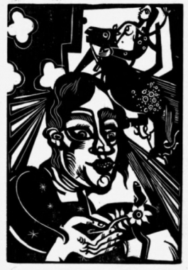 Frau Mit Blume / Woman With Flower