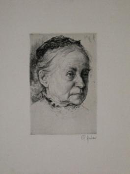Portrait Einer Alten Dame